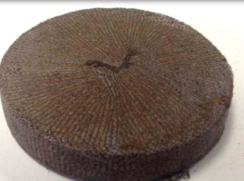 Брикет из кокосовой койры для выращивания рассады.