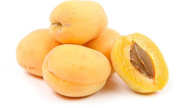 Спелые здоровые абрикосы.
